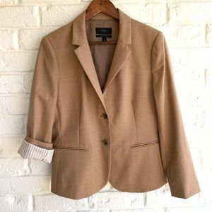 J. CREW Blazer Super 120's Tan 2-Button Wool